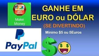 Ganhar Dinheiro - app Dinheiro grátis, MAKE MONEY, Ganhe em EURO e Ganhe em DÓLAR