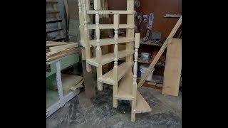 как сделать винтовую лестницу из дерева своими руками