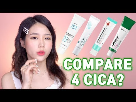 Comparison Of The 4 Different Cica Balm Products From Dr.Jart, Etude House, Apieu And Innisfree.