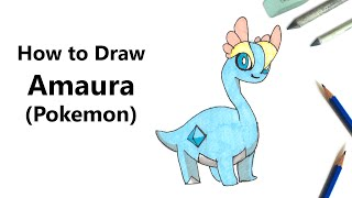 How to Draw Amaura from Pokemon [Speed Drawing]