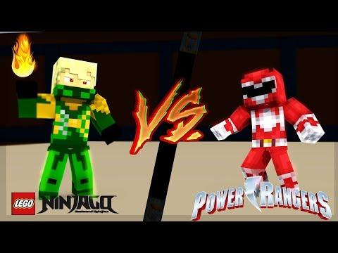 Minecraft - LEGO NINJAGO vs POWER RANGERS - WHO'S THE BEST WARRIOR!! thumbnail