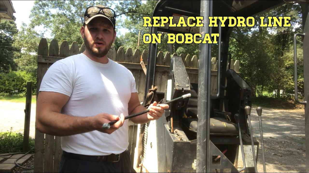 small resolution of replace hydraulic line on bobcat