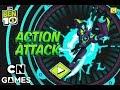 LANÇOU ! BEN 10 OMNITRIX ACTION ATTACK - ESCOLHA A AÇÃO MAIS RÁPIDA (Cartoon Network Games)