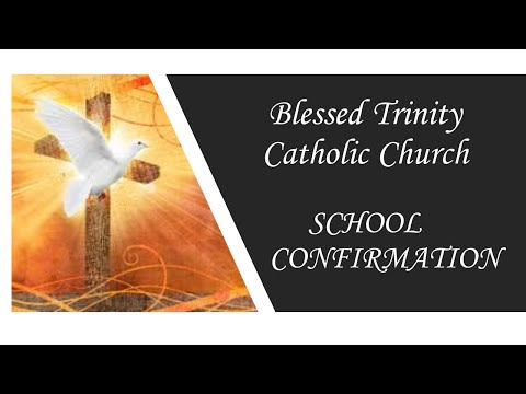 Blessed Trinity School Confirmation, Archbishop Wenski, Fr. Alfaro, Fr. Pawel, Fr. Hernando