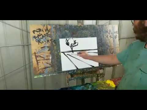 Time Lapse Loose Brush Oil Painting – Expressionist Landscape by Artist Jose Trujillo
