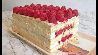 Бисквитный Торт с Малиной (Очень Вкусный ) / Мини Торт / Raspberry Cake Recipe / Ягодный Торт