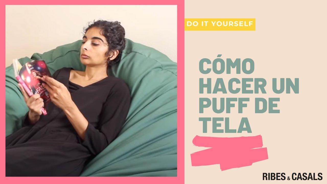 Do it yourself c mo hacer un puff de tela para el sal n youtube - Como hacer un puff pera ...