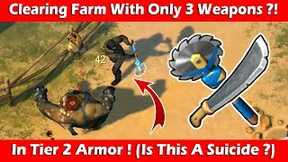 Clearing Farm With Only 3 Weapons In Tier 2 Armor! Last Day On Earth Survival