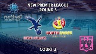 2018 samsung premier league round 3 - u20s/opens - court 2 - erna hawks v north shore united