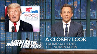 Trump Accepts the Nomination: A Closer Look