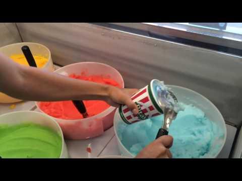 Making a gelati at Rita's in Clovis