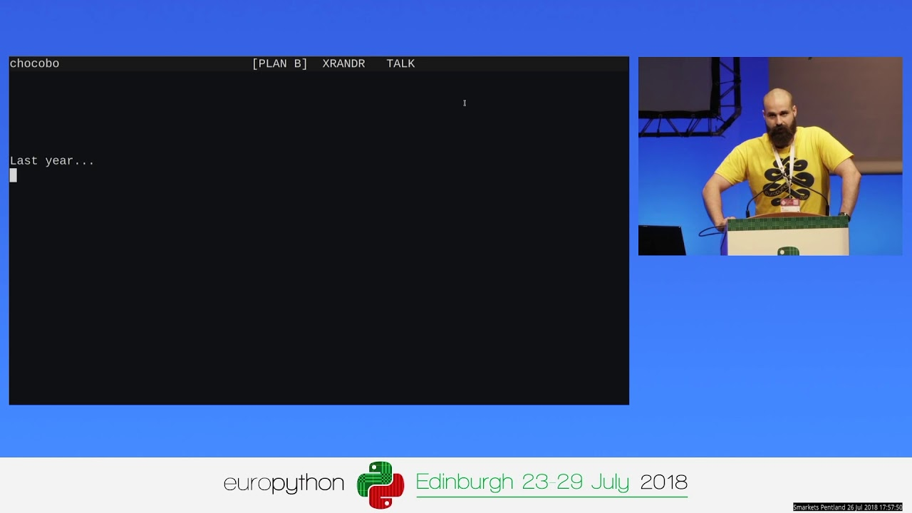 Image from EuroPython 2018 - Lightning talks on Thursday, July 26