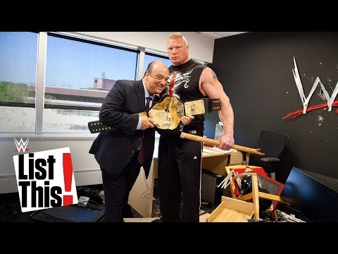 5 forgotten Brock Lesnar moments: WWE List This!