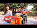 Nerf War: HERO GIRL & Snipers Nerf Guns Marksman Rescue Young Girl Nerf movie