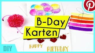 DIY / BASTELN : Geburtstagskarten selbermachen (Pinterest Inspired)