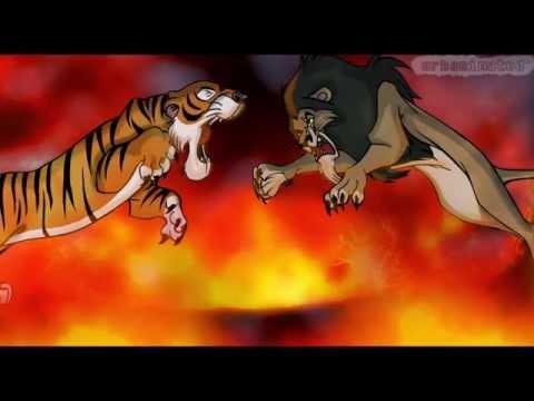 scar the lion vs shere khan the tiger!