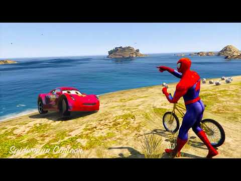 Thumbnail: CARS 3 MOVIES Spiderman Hulk and Tow Mater Rescue Cruz Ramirez Underwater w/ 3d animation for kids