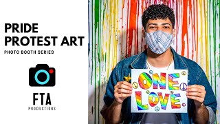Pride Protest Art Photo Booth | Behind the Scenes