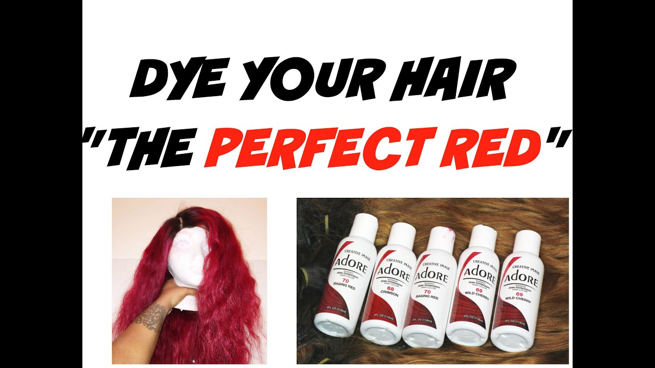 HIGHLY REQUESTED How To Dye Your Hair The PERFECT RED