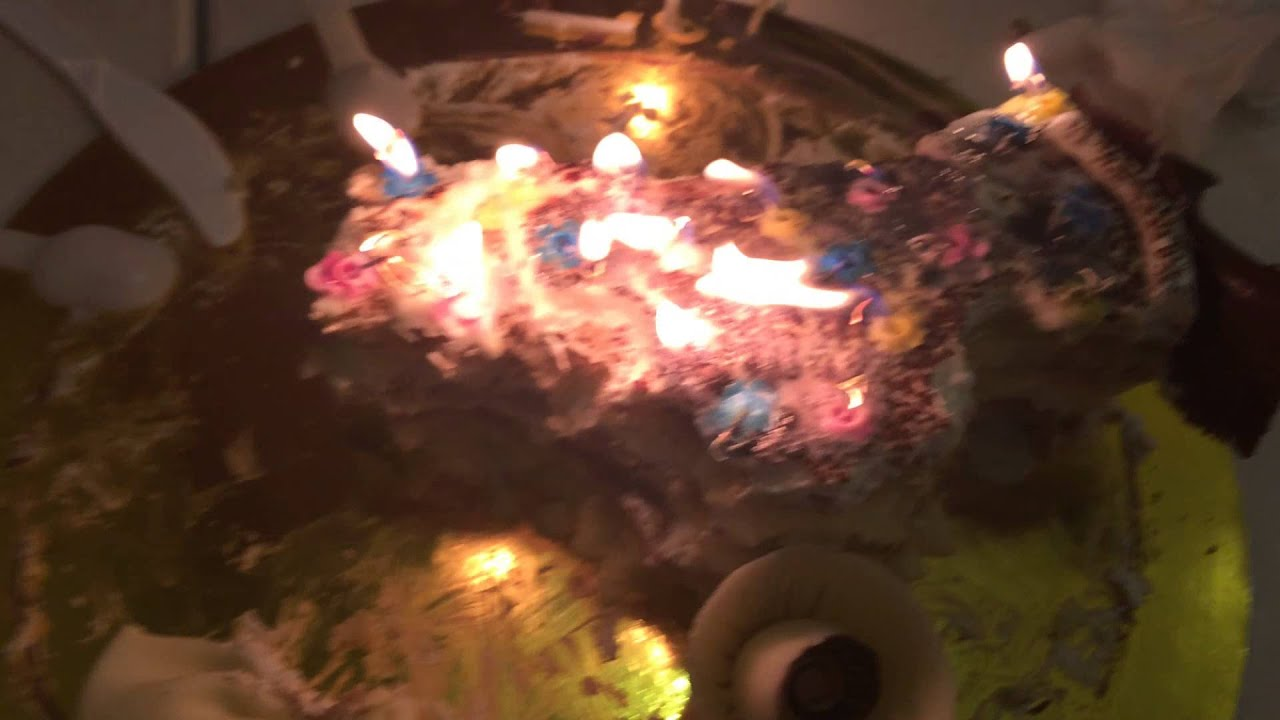 150201 Burning Underwear Birthday Cake Youtube