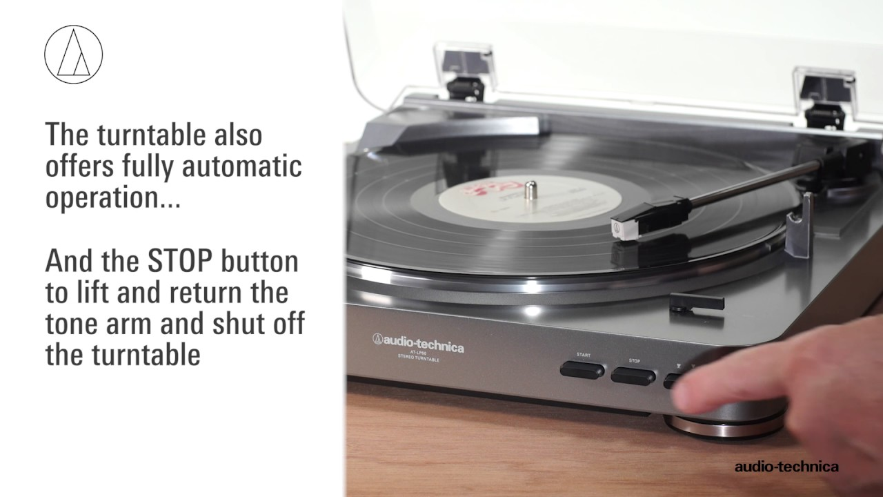 AT LP60 Fully Automatic Belt Drive Stereo Turntable