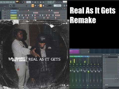 Lil Baby feat EST Gee — Real As It Gets Instrumental Remake FL Studio Tutorial in Only 5 Minutes