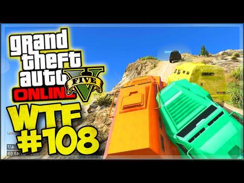 GROS BORDEL EN HVY INSURGENT AU MONT CHILIAD ! - GTA 5 ONLINE COURSE WTF #108
