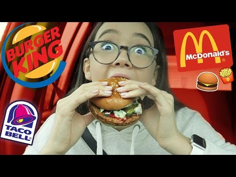 VEGAN FAST FOOD + Taste Test (McDonald's, Burger King, Taco Bell) | Fiona Frills