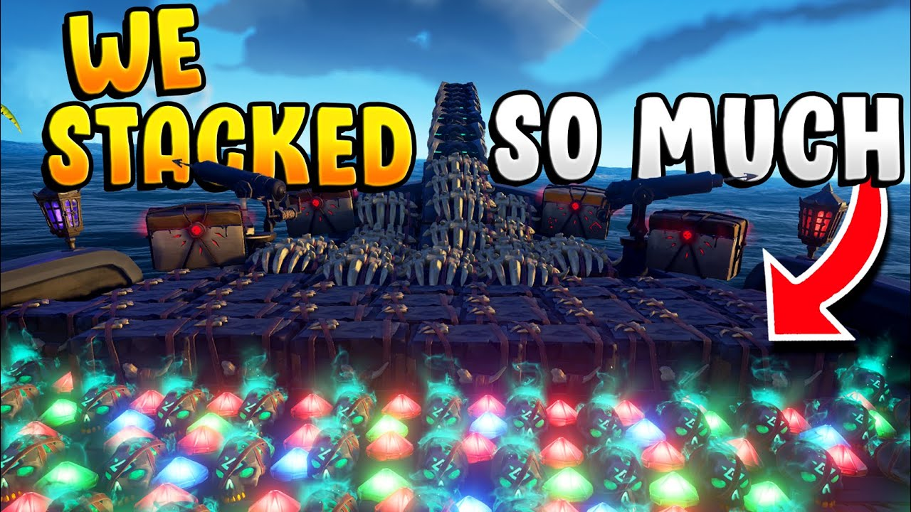 We STACKED so MUCH LOOT and got HUNTED!! (3 MILLION GOLD)