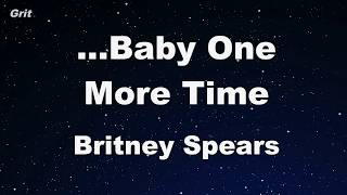 ..Baby One More Time - Britney Spears Karaoke 【No Guide Melody】 Instrumental