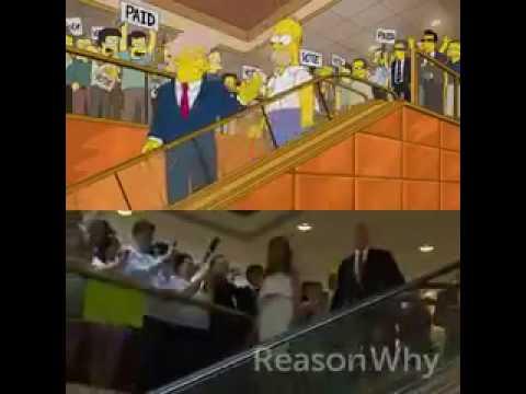 Simpsons Trump Rolltreppe