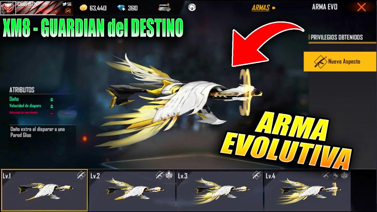 LLEGÓ! NUEVA ARMA EVOLUTIVA XM8 GUARDIAN del DESTINO en FREE FIRE! NUEVA  ACTUALIZACION y MAS - YouTube