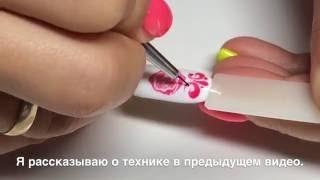 Дизайн ногтей РОЗЫ по сырому. Простой дизайн ногтей. Гель-лак.