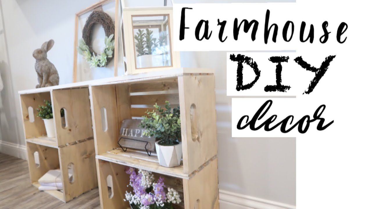 DIY FARMHOUSE DECOR | FARMHOUSE STYLE DECORATING | SPRING DECORATE WITH ME  | DIY ENTRY TABLE