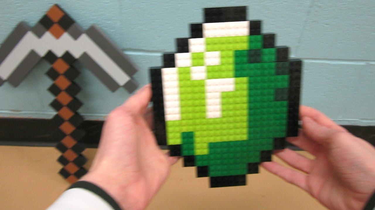 lego emerald gem minecraft youtube