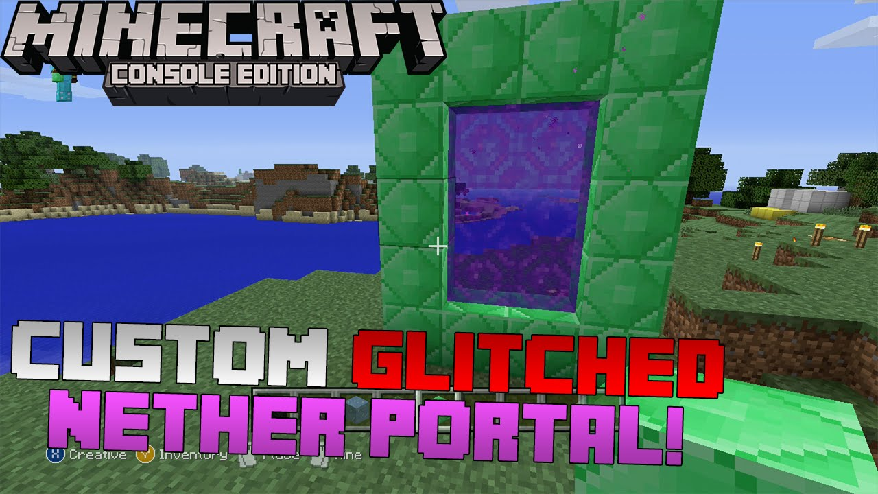 how to build a nether portal in minecraft ps4
