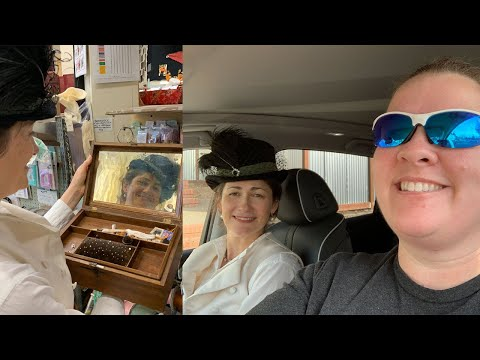 Vlog   Picking Out Panties With Cathy Hay, 1920's Exhibit, Book Shelf Tour and Lacis Haul