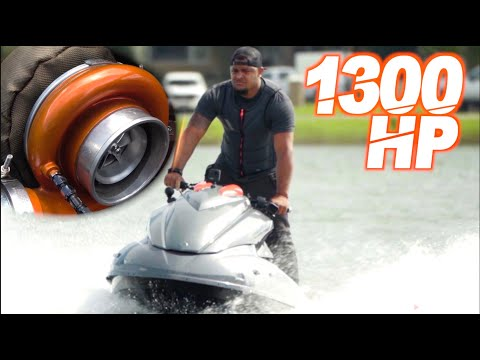 1300HP Turbo Jetski 100+MPH CRAZY ACCELERATION (The BIGGEST TURBO We've Ever Seen on a Jetski!) from YouTube · Duration:  8 minutes 19 seconds