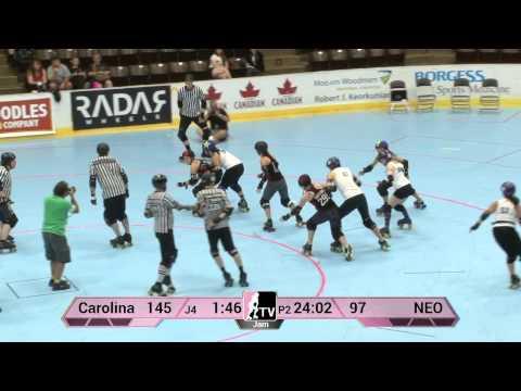 Carolina Rollergirls v NEO Roller Derby: 2013 WFTDA D2 Playoffs in Kalamazoo
