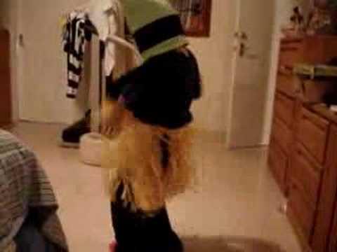my bro dancing in hula skirt part 1