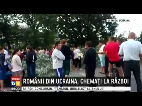 Romanii din Ucraina, chemati la razboi