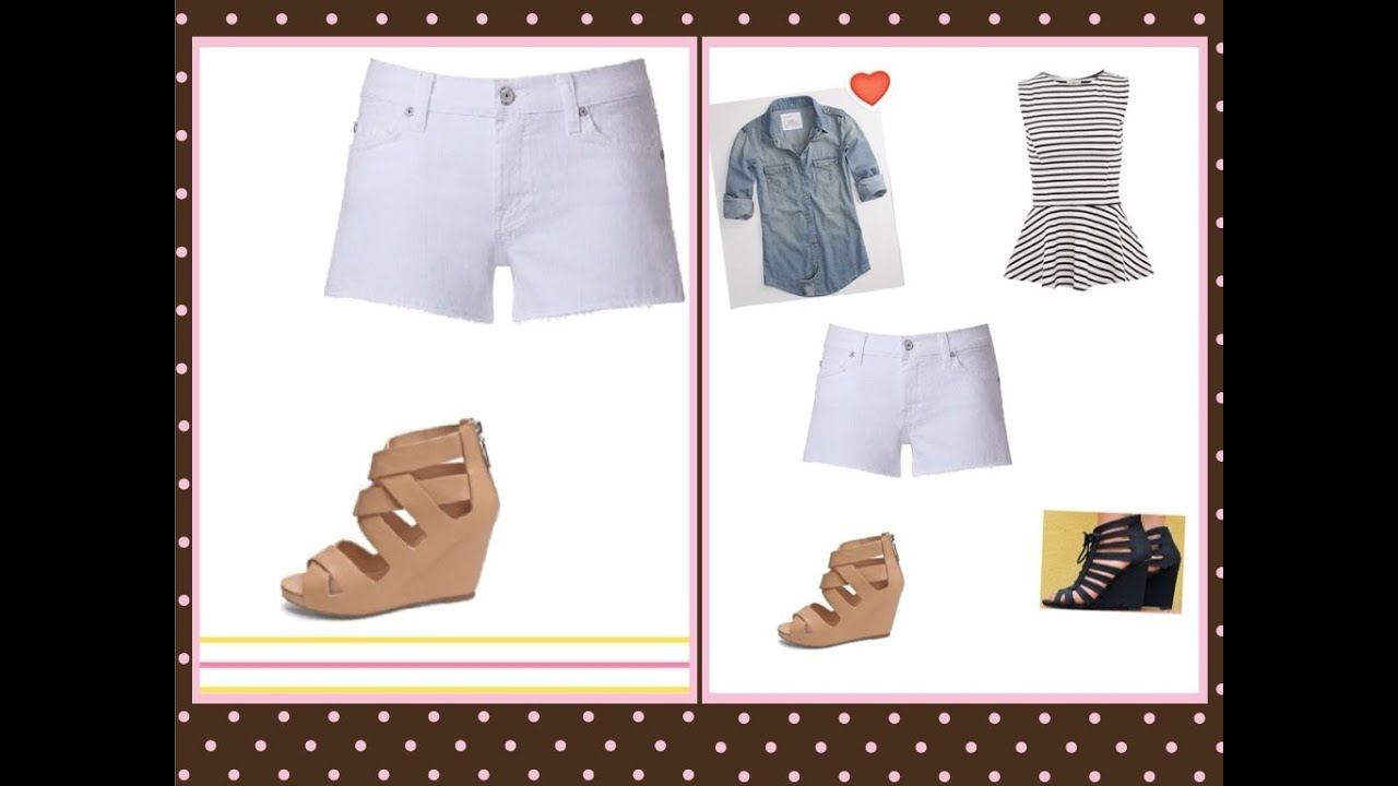 Outfits con shorts blancos summer2013 - YouTube