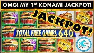 OMG! MY FIRST KONAMI JACKPOT HANDPAY!!! LION FESTIVAL SLOT MACHINE @ MGM SPRINGFIELD!