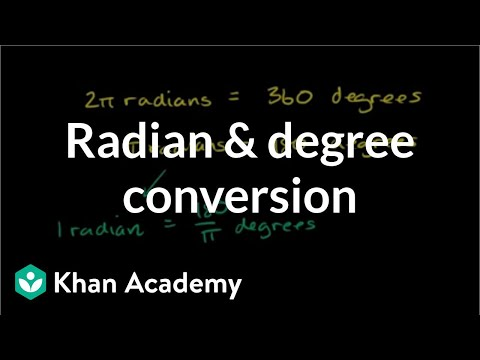 Radian and degree conversion practice | Trigonometry | Khan Academy