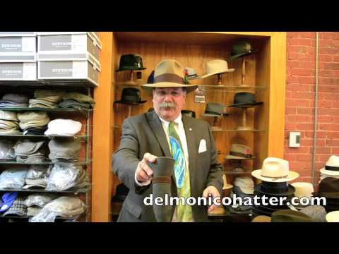 81386dea How to Roll Up a Packable Felt Hat or Straw Hat | DelMonico Hatter - YouTube