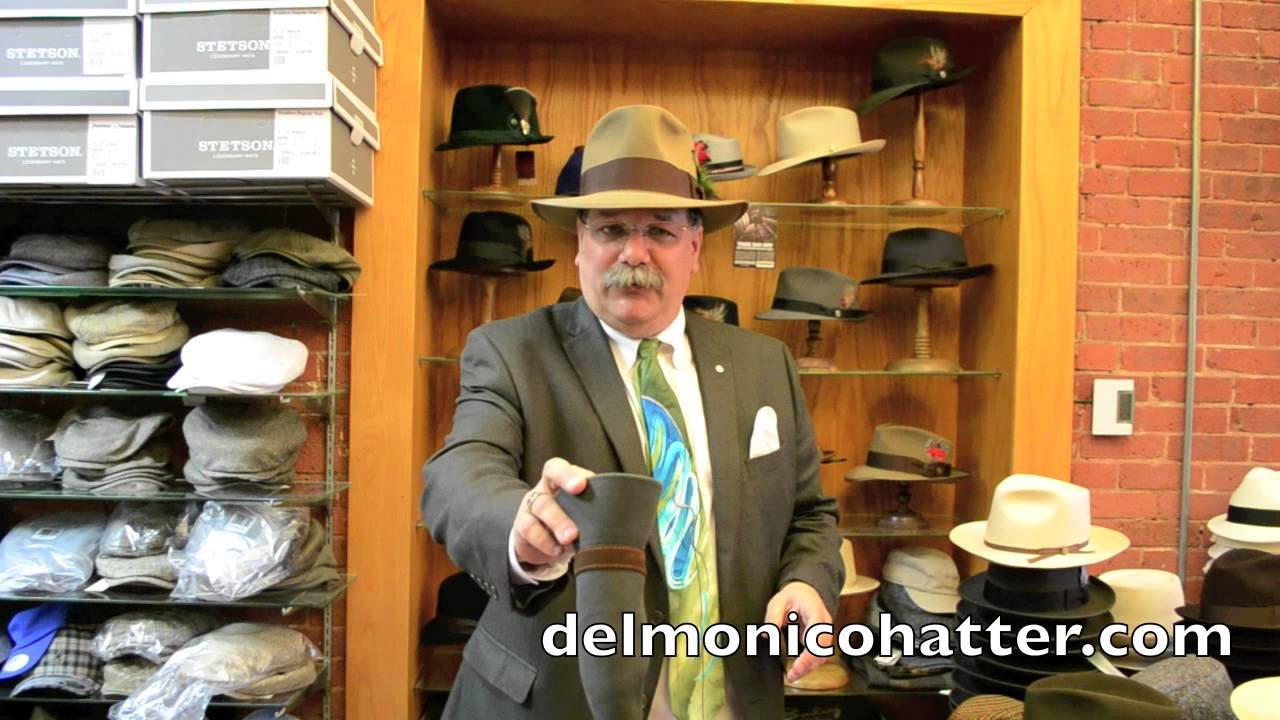 686070bc How to Roll Up a Packable Felt Hat or Straw Hat | DelMonico Hatter ...