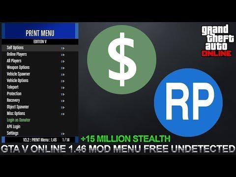 FREE GTA 5 MOD MENU! PR!NT MENU AFTER 1.46!