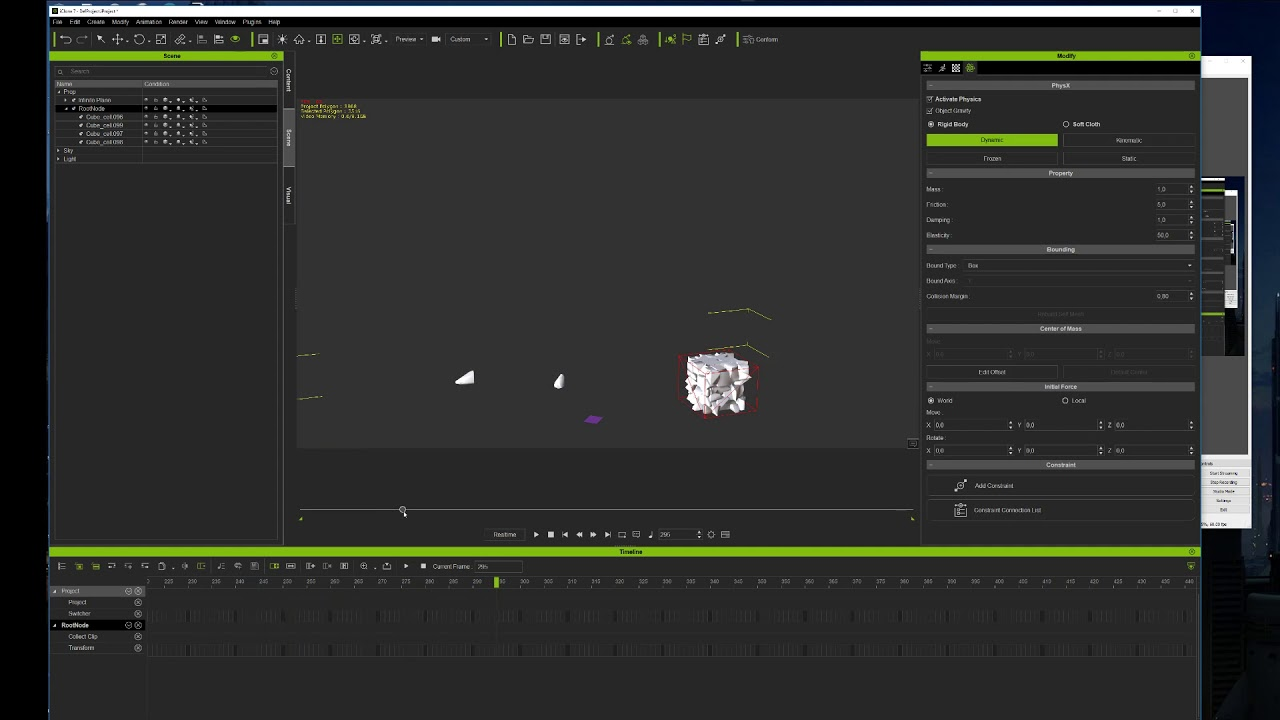 How to import Blender destruction(fracture) data to iClone?