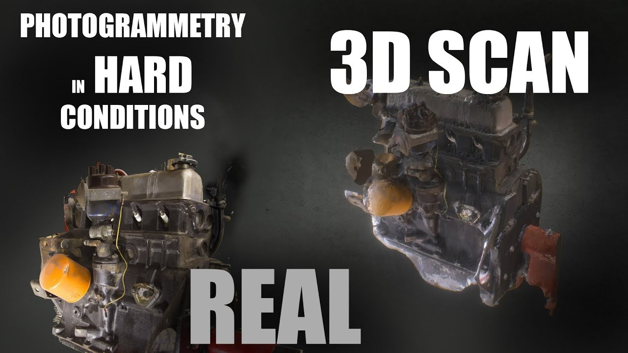 3D Scanning an engine in the worst possible conditions