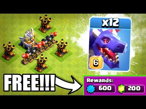 NEW EVENT = MOST FREE GEMS EVER!! - Clash Of Clans - MAX LEVEL DRAGON LIGHTNING!